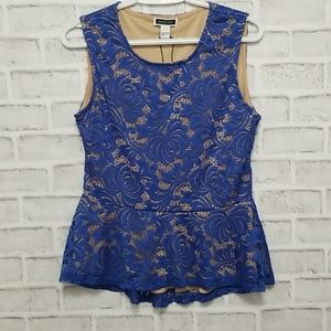 NWT In Every Story Lace Peplum Top Large